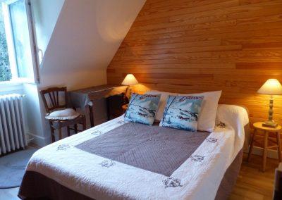 Appartement Les Crêtes, chambre avec lit double