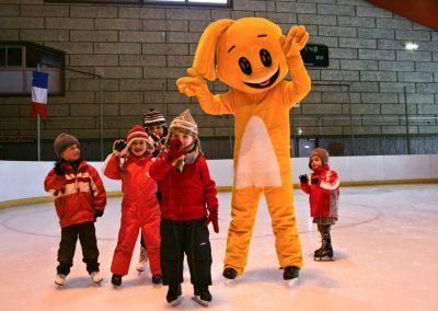 Le Mont-Dore mascotte Tibou en hiver